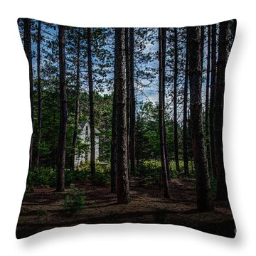 House In The Pines Throw Pillow