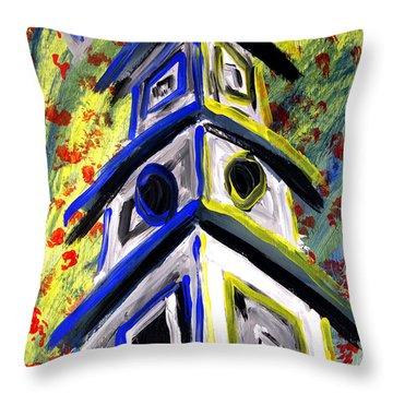 House Throw Pillow by Luke Galutia