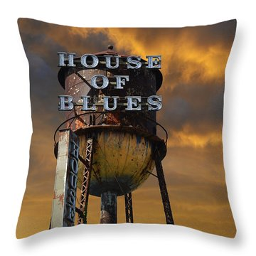 Throw Pillow featuring the photograph House Of Blues  by Laura Fasulo