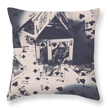 Throw Pillow featuring the photograph House Of Cards by Jorgo Photography - Wall Art Gallery