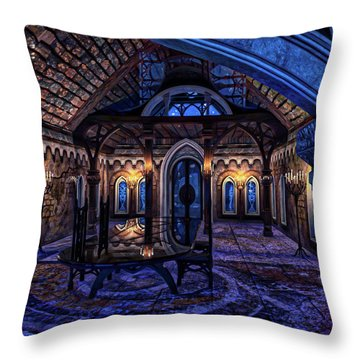 House Of Counsel Throw Pillow by Dave Luebbert