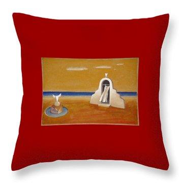 House Of Eros Throw Pillow by Dimitris Milionis