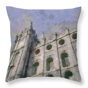 House Of Faith Throw Pillow by Greg Collins