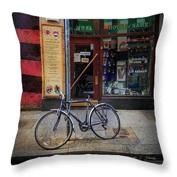Throw Pillow featuring the photograph House Of Names Bicycle by Craig J Satterlee