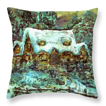 House Of Solace Throw Pillow
