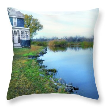 House On A Lake Throw Pillow by Jill Battaglia