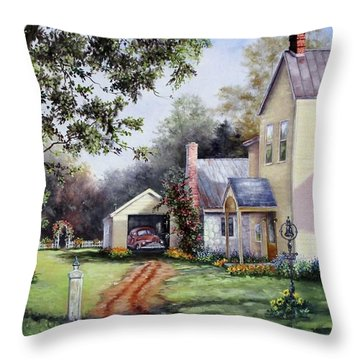 House On Bird Street Throw Pillow
