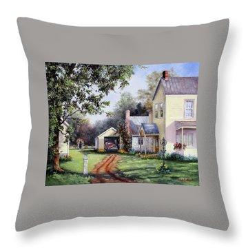 House On Bird Street Throw Pillow