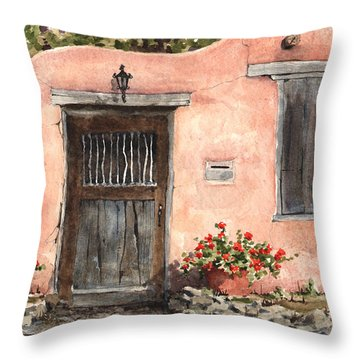House On Delgado Street Throw Pillow
