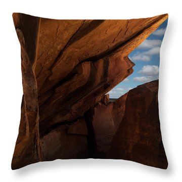 House On Fire Look Through Throw Pillow by Gary Warnimont