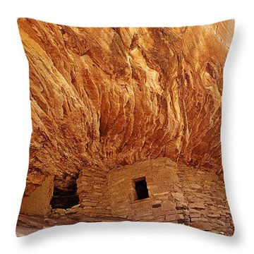 House On Fire Ruins Throw Pillow