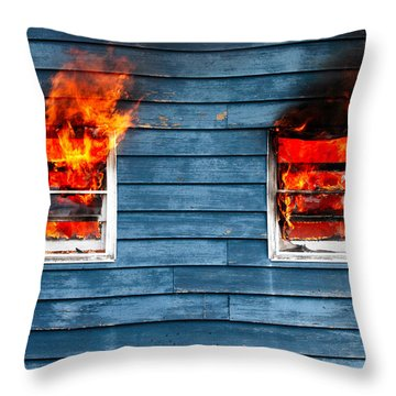 Charred Throw Pillows