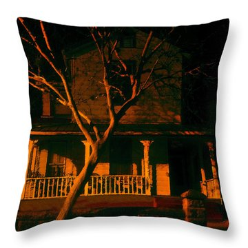 House On Haunted Hill Throw Pillow by David Lee Thompson