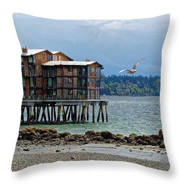 House On Stilts Throw Pillow