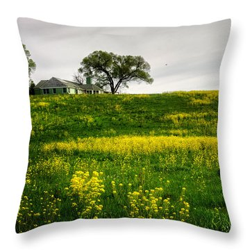 Throw Pillow featuring the photograph House On The Hill by Greg Mimbs