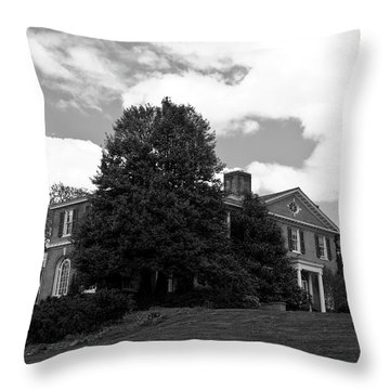 Throw Pillow featuring the photograph House On The Hill by Jose Rojas
