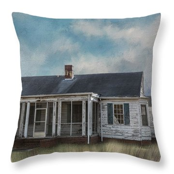 Throw Pillow featuring the photograph House On The Hill by Kim Hojnacki