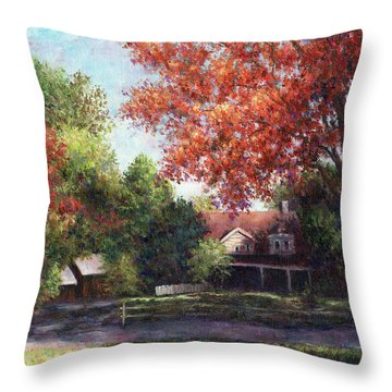 House On The Hill Throw Pillow by Susan Savad