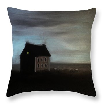 House On The Praerie Throw Pillow