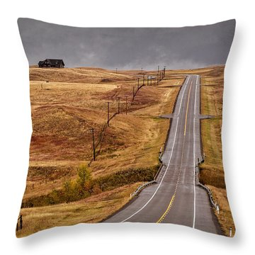 House On Thr Hilltop Throw Pillow