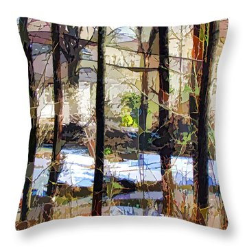 House Surrounded By Trees 2 Throw Pillow by Lanjee Chee