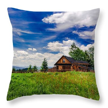 Throw Pillow featuring the photograph House With The View by Dmytro Korol