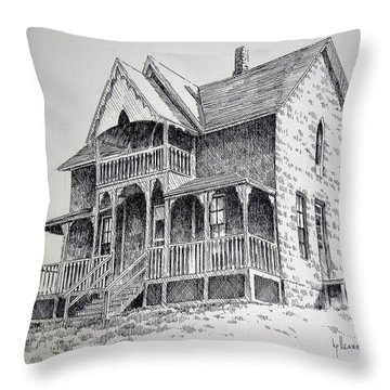 House Virginia City Montana Throw Pillow by Kevin Heaney
