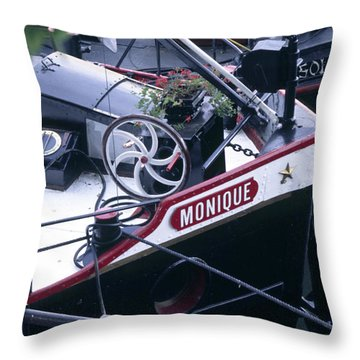 Houseboat In France Throw Pillow