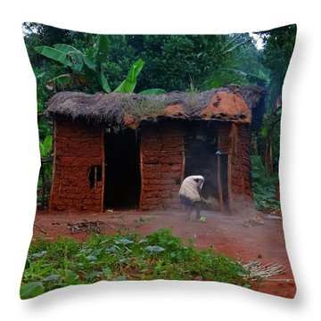 Housecleaning Africa Style Throw Pillow