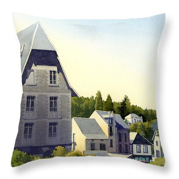 Houses At Murol Throw Pillow