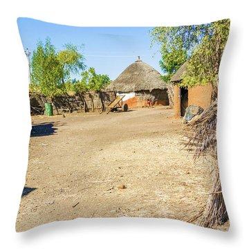 Houses In Rashid,  Sudan Throw Pillow