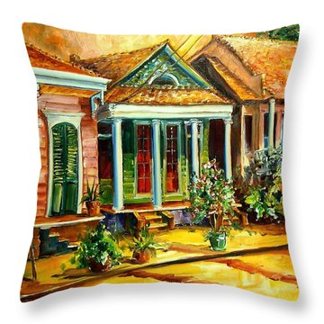 Houses In The Marigny Throw Pillow by Diane Millsap