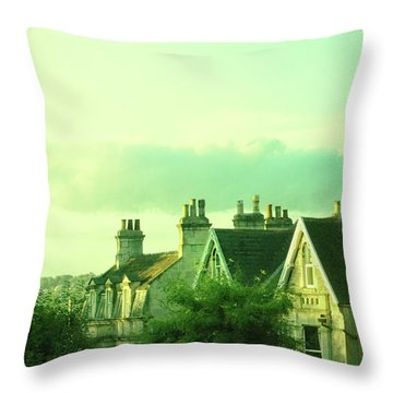Houses Throw Pillow by Jill Battaglia