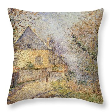 Houses On The Banks Of The Eure Throw Pillow