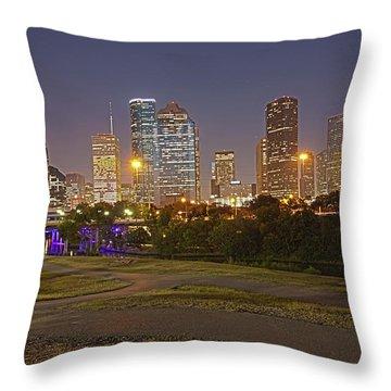 Houston Cityscape1 Throw Pillow