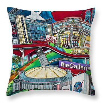Houston Montage Two Throw Pillow
