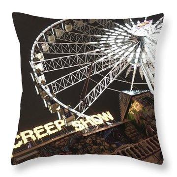 Creepy Carnival Throw Pillow