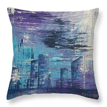 Houston Skyline 2 Throw Pillow