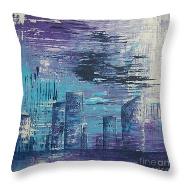 Houston Skyline 2 Throw Pillow