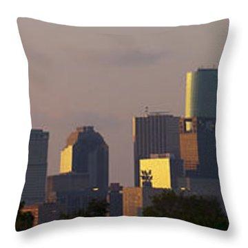 Houston Sunset Throw Pillow