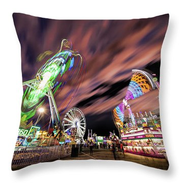 Houston Texas Live Stock Show And Rodeo #1 Throw Pillow by Micah Goff