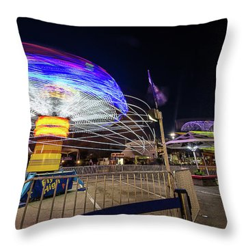 Houston Texas Live Stock Show And Rodeo #10 Throw Pillow by Micah Goff