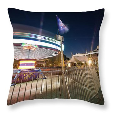 Houston Texas Live Stock Show And Rodeo #11 Throw Pillow by Micah Goff