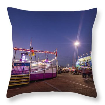 Houston Texas Live Stock Show And Rodeo #12 Throw Pillow by Micah Goff