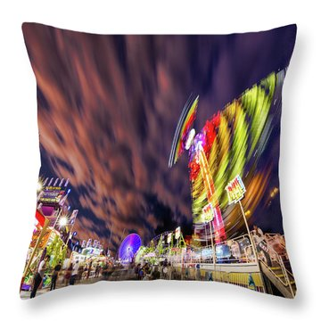 Houston Texas Live Stock Show And Rodeo #3 Throw Pillow