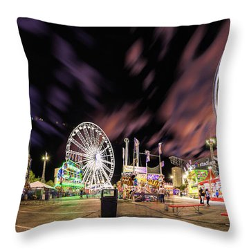 Houston Texas Live Stock Show And Rodeo #4 Throw Pillow by Micah Goff