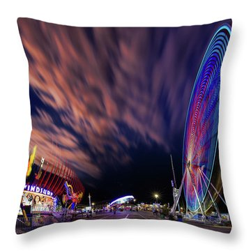 Houston Texas Live Stock Show And Rodeo #5 Throw Pillow by Micah Goff
