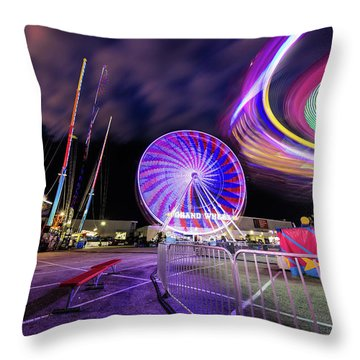 Houston Texas Live Stock Show And Rodeo #6 Throw Pillow by Micah Goff