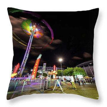 Houston Texas Live Stock Show And Rodeo #7 Throw Pillow by Micah Goff