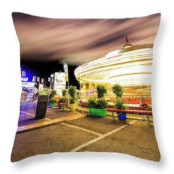 Houston Texas Live Stock Show And Rodeo #8 Throw Pillow by Micah Goff